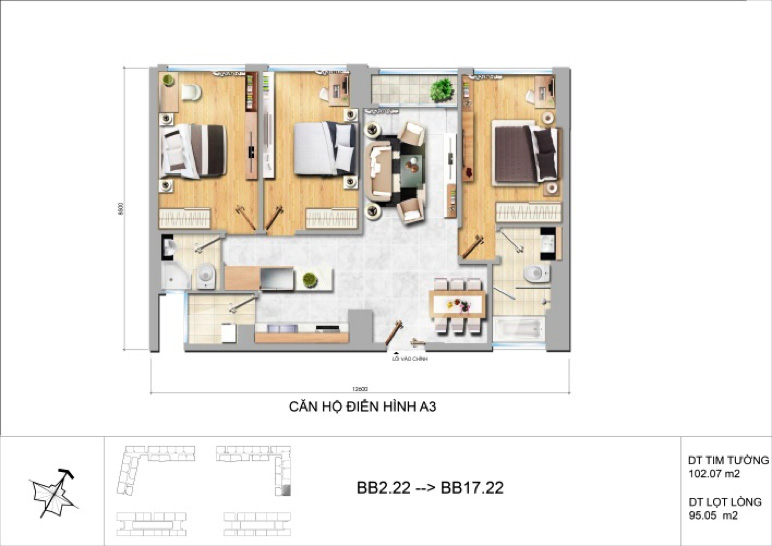 New city Thu Thiem Floor Plan